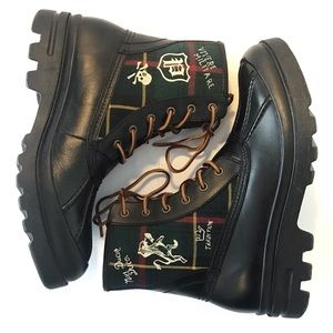Polo RL Men's Size 11 Udel Tartan Duck Boots NWOT